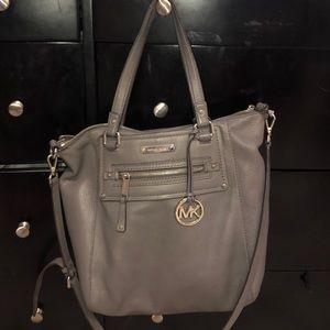 Grey Michael Kors purse